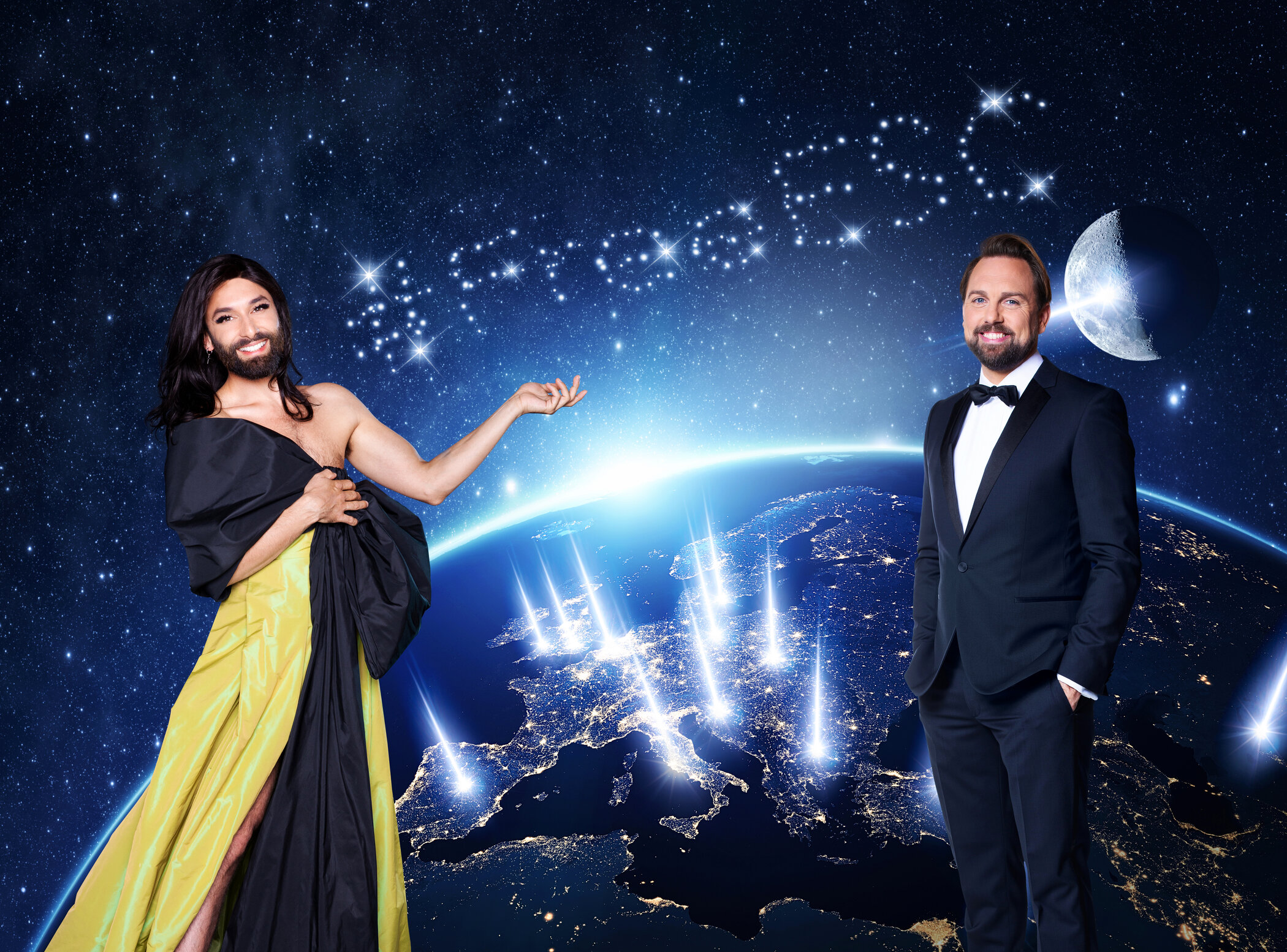 Conchita Wurst und Steven Gätjen moderieren den #FreeESC.